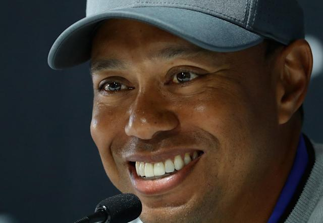 Here's a story about Tiger Woods, playing through, and talking trash to Jason Dufner