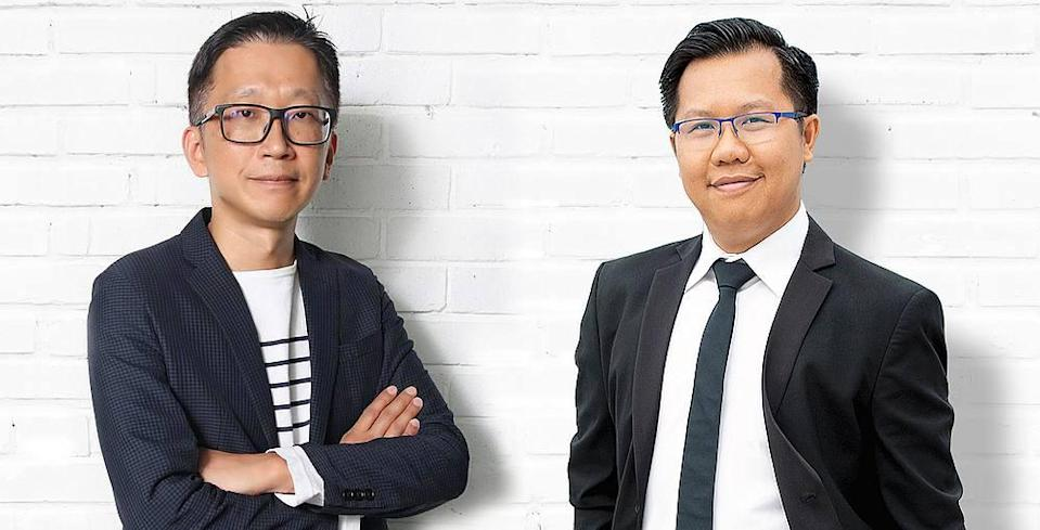 Serm Teck Choon (left) and Dinh Le Dat (right) launch the AI-enabled platform June 3, 2020. — Picture courtesy of Serm Teck Choon