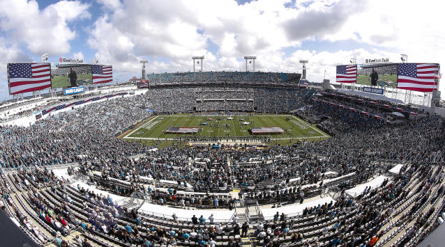 EverBank Field, the 69,000-capacity current home of the Jacksonville Jaguars. (Photo by Don Juan Moore/Getty Images)