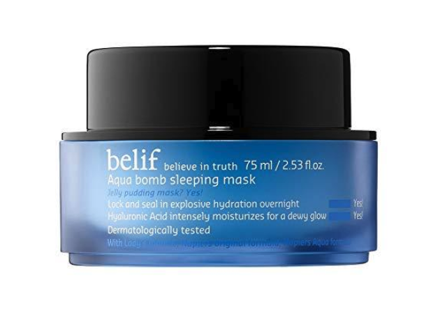 """<p><a rel=""""nofollow"""" href=""""https://www.self.com/gallery/save-face-ultimate-dry-skin-guide-slideshow?mbid=synd_yahoo_rss"""">Dry skin</a> doesn't stand a chance against the hydrating power of this jelly-pudding sleeping mask. Bonus: Sephora commenters say the lightweight formula absorbs quickly, so it won't transfer onto your pillow.</p> <p><strong>Buy it:</strong> $34, <a rel=""""nofollow"""" href=""""https://www.sephora.com/product/aqua-bomb-sleeping-mask-P433443"""" rel=""""nofollow"""">Sephora</a></p>"""