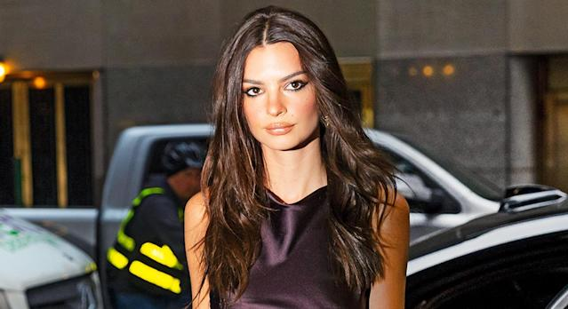 Emily Ratajkowski has revealed the beauty secret behind her glowing skin is a product containing snail secretion. (Getty Images)