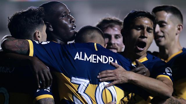 Festejo Boca Defensa y Justicia Superliga 06102019
