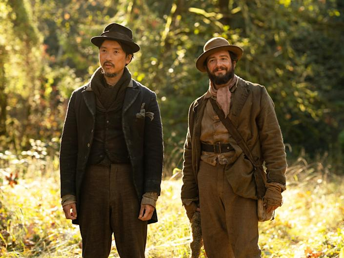 Orion Lee as King-Lu and John Magaro as Cookie in director Kelly Reichardt's