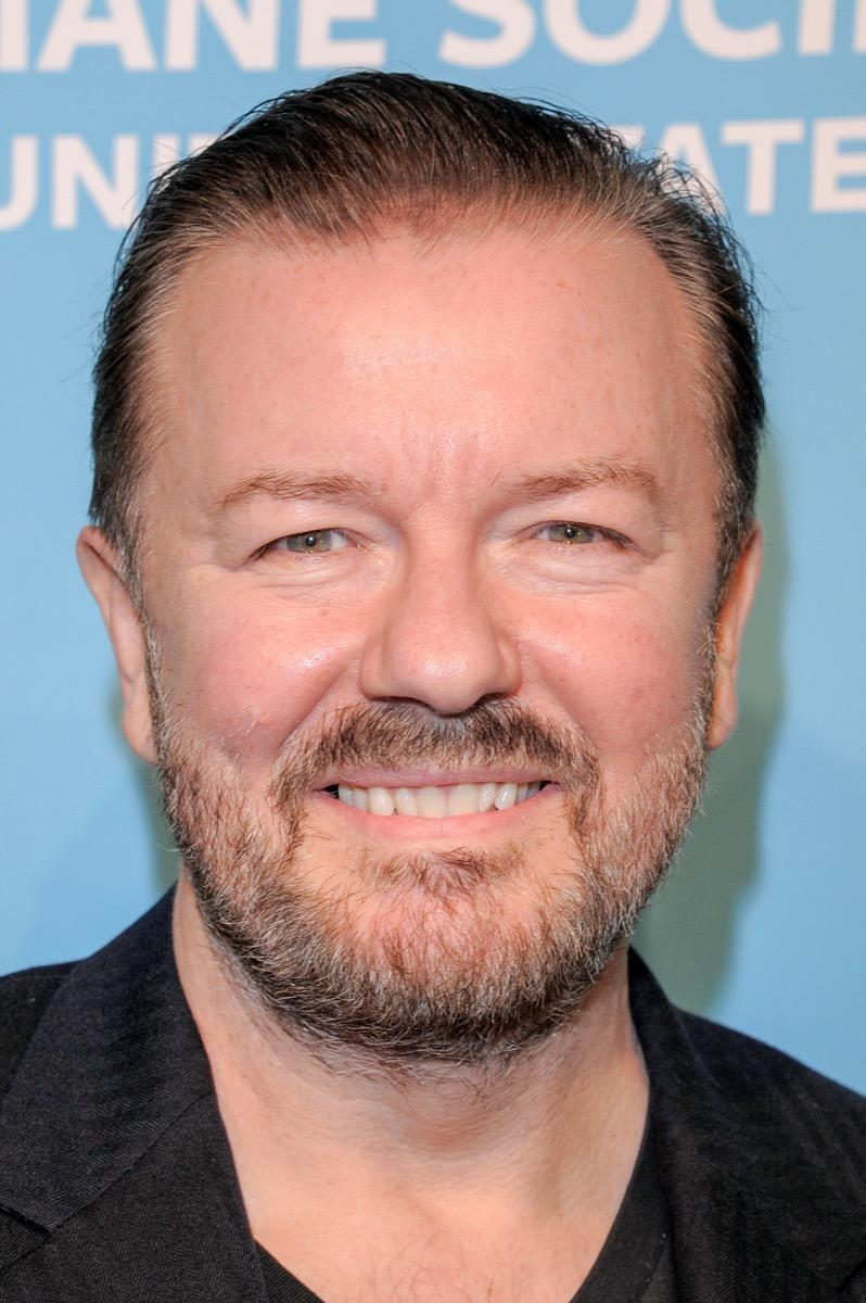 Ricky Gervais wears black jacket at To the Rescue! Gala in 2018