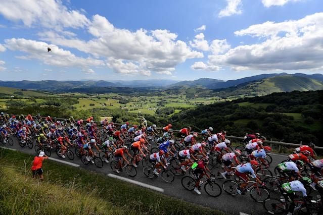 Thanks to a helicopter filming the Vuelta a Espana — a multi-stage cycling race in Spain — police seized 40 marijuana plants this week. (Justin Setterfield/Getty Images)