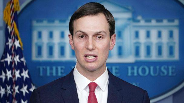 PHOTO: Senior Advisor to the President Jared Kushner speaks during the daily briefing on the novel coronavirus, COVID-19, in the Brady Briefing Room at the White House on April 2, 2020, in Washington. (Mandel Ngan/AFP via Getty Images)