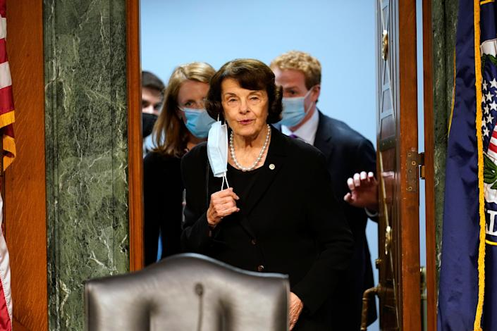 Senator Dianne Feinstein has announced she will not seek a chair position within the Senate Judiciary Committee (AP)