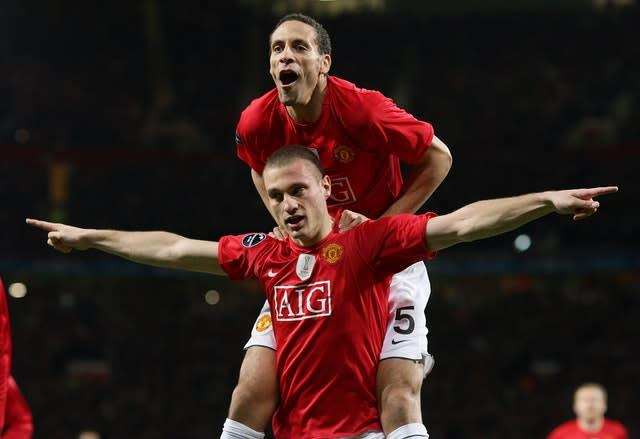 Nemanja Vidic and Rio Ferdinand formed a formidable partnership (Martin Rickett/PA)