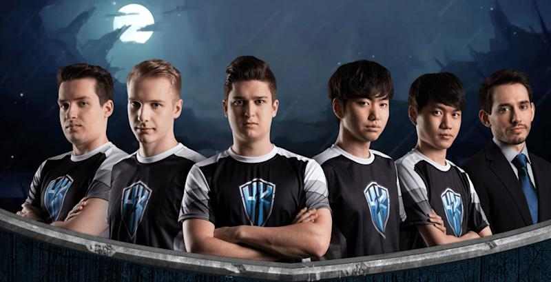 H2K's current League of Legends roster. (H2K)