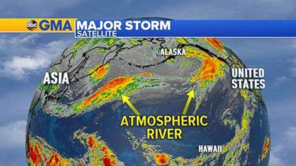 PHOTO: A so-called Atmospheric River could dump rain on parts of Oregon and Washington state this week. (ABC News)