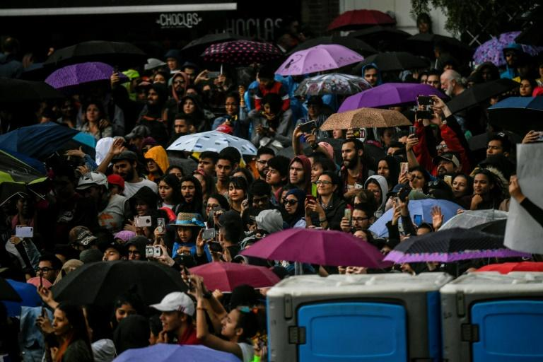 A sea of protesters quickly took over the center and north of Colombia's capital Bogota, pushing for changes in conservative President Ivan Duque's agenda (AFP Photo/Juan BARRETO)