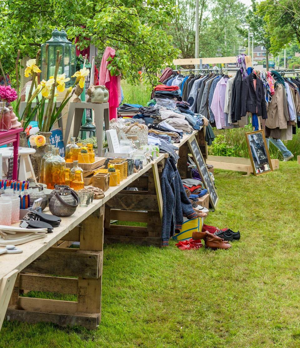 "<p>Before you kick your old stuff to the curb, try and make a buck off of it. You'll be surprised at how much you could avoid throwing in the trash just by inviting people to take it off your hands at a low cost.</p><p><strong>RELATED: </strong><a href=""https://www.goodhousekeeping.com/home/g4625/valuable-garage-sale-finds/"" rel=""nofollow noopener"" target=""_blank"" data-ylk=""slk:10 Things You Never, Ever Pass Up at Garage Sales"" class=""link rapid-noclick-resp"">10 Things You Never, Ever Pass Up at Garage Sales</a></p>"