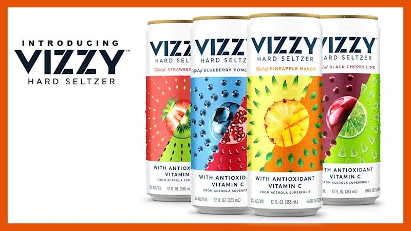 A 12-ounce Vizzy can boasts having 20% of the daily recommended amount of Vitamin C.