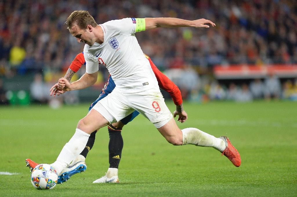 Harry Kane set up two of England's three goals against Spain on Monday. (AFP Photo/CRISTINA QUICLER)