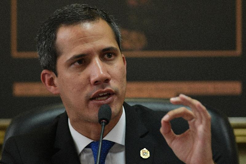 Despite a highly-publicized campaign, opposition leader and self-proclaimed interim president Juan Guaido (pictured April 16, 2019) has failed to force humanitarian aid into Venezuela (AFP Photo/Matias Delacroix)