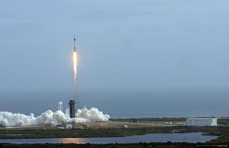 SpaceX Conducts In-Flight Abort Test In Florida