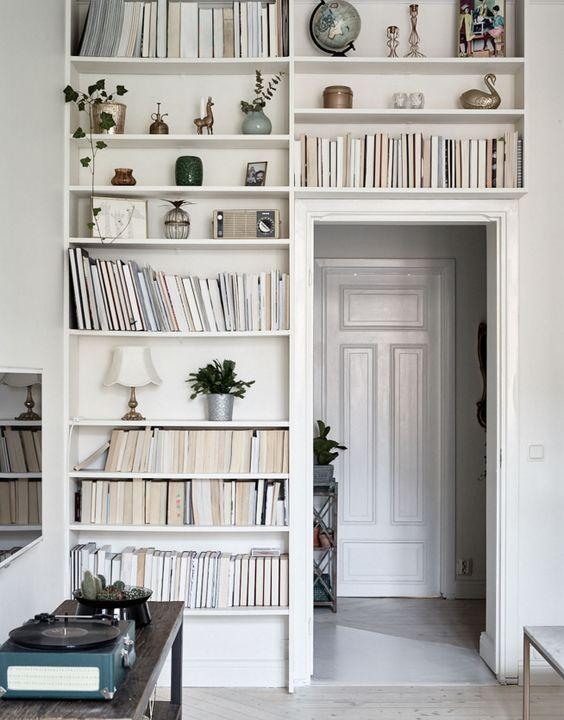 <p>Floating shelves are trending in the interiors world and to top that, they're also a great way to use dead spaces - around doors and in nooks and crannies that might otherwise go unused. As well as stacking up books and boxes, use them to display plants and treasures. <i>[Photo: Pinterest]</i></p>