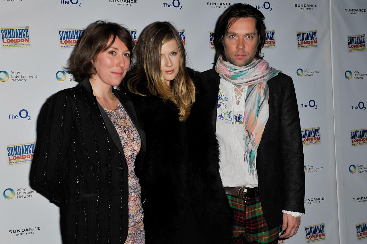"LONDON, ENGLAND - APRIL 29:  Martha Wainwright, filmmaker Lian Lunson and Rufus Wainwright attend ""Sing Me The Songs That Say I Love You - A Concert For Kate McGarrigle"" screnning and Q&A during Sundance London at Cineworld 02 Arena on April 29, 2012 in London, England.  (Photo by Gareth Cattermole/Getty Images for Sundance/AEG Europe)"