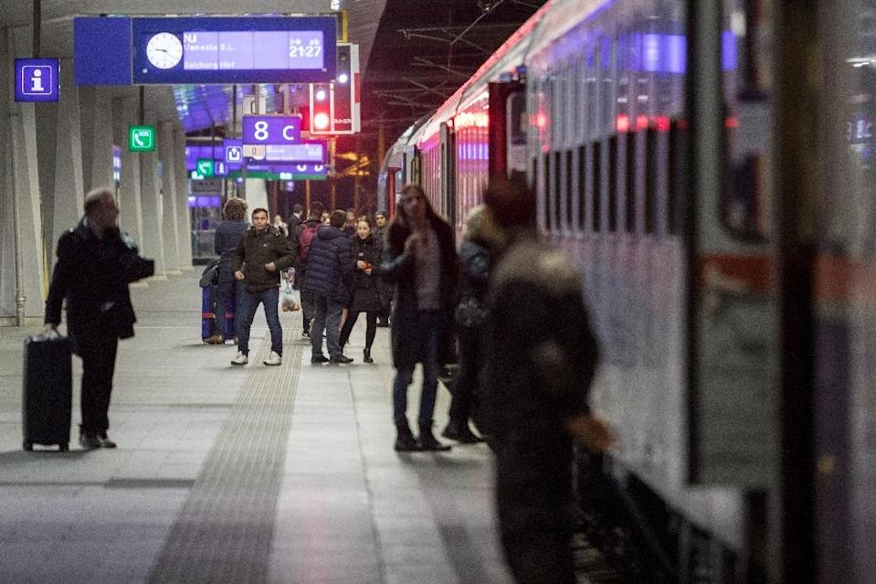 Some climate activists have been campaigning to convince travellers to boycott planes in favour trains, which produce just five percent of the CO2 emissions per passenger kilometre compared with air travel (AFP Photo/ALEX HALADA)