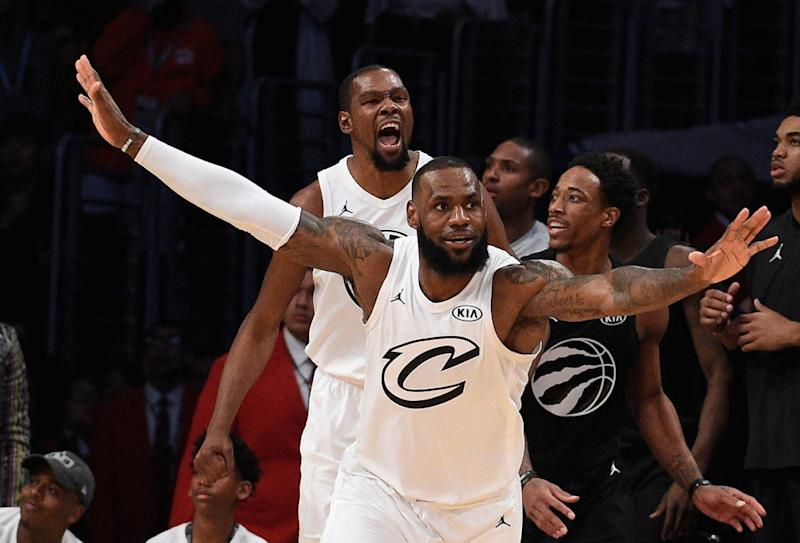 902aba064589 LeBron James and Kevin Durant played as teammates for the first time in an  All-Star Game this past February. (Getty Images)