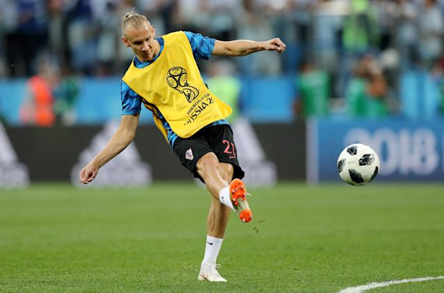 Soccer Football - World Cup - Group D - Argentina vs Croatia - Nizhny Novgorod Stadium, Nizhny Novgorod, Russia - June 21, 2018 Croatia's Domagoj Vida during the warm up before the match REUTERS/Ivan Alvarado