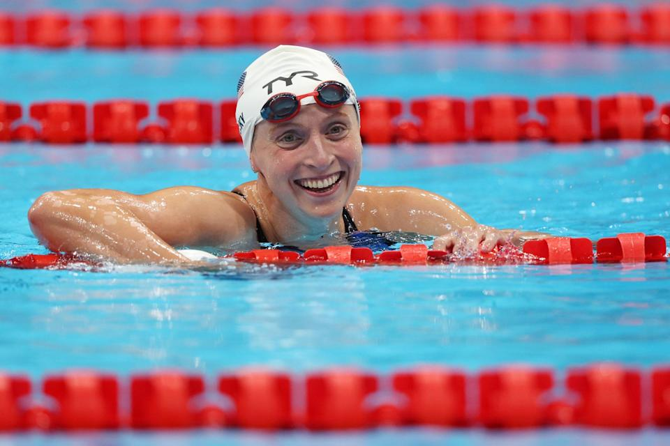 """<p>Biography: 24 years old</p> <p>Event: Women's 1500m freestyle (swimming)</p> <p>Quote: """"I definitely wanted to get at least one [gold medal] and I've kind of checked that box. I still always have the big picture in mind.""""</p>"""