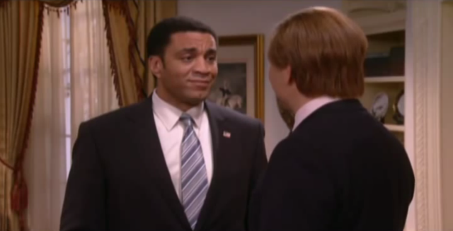 Lennix and David Walliams in <em>Little Britain USA</em> (Photo: HBO)