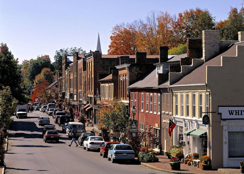 """<p>In Tennessee's oldest town, you'll find beautifully-preserved buildings that make wandering a treat. Walk right into <a href=""""http://www.historicjonesborough.com/shopping/antiques-historic-jonesborough-tn.php"""" rel=""""nofollow noopener"""" target=""""_blank"""" data-ylk=""""slk:one of the handful of antique shops"""" class=""""link rapid-noclick-resp"""">one of the handful of antique shops</a> and bring home a special souvenir from this truly special town.</p>"""