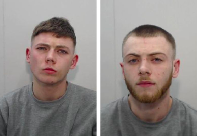 Shocking: Ewan Gaylard, left, and Declan O'Neill met the woman on the street before taking her back to Gaylard's flat. (Greater Manchester Police)
