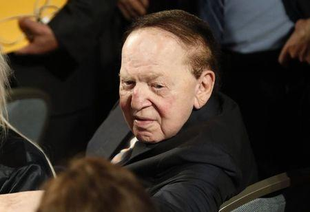 Las Vegas casino owner Sheldon Adelson attends the U.S. presidential debate at Hofstra University in Hempstead
