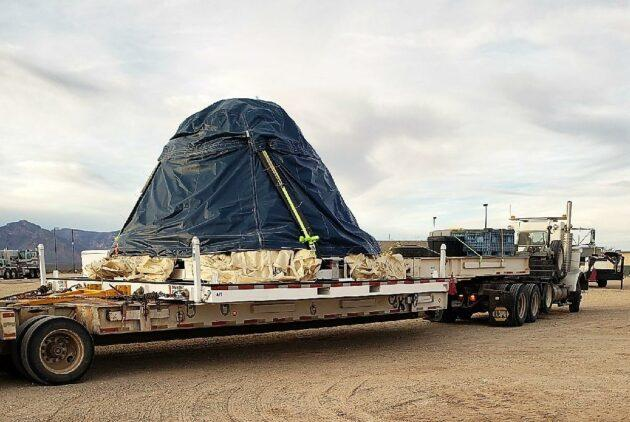 Starliner wrapped in plastic