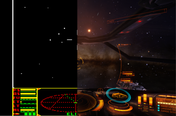 Elite 30 years later: Comparing screenshots from 1984and2014