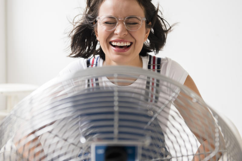 Beat the heat! Shop discount air conditioners and fans right now at Walmart. (Photo: Getty Images)