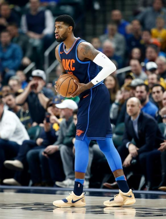 Paul George was traded from the Oklahoma City Thunder to the Los Angeles Clippers, where he will partner with Kawhi Leonard next season (AFP Photo/ANDY LYONS)