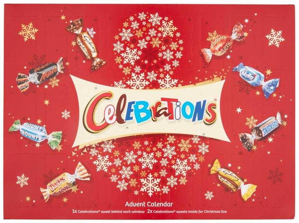 Last year there was also outrage when day one of the Celebrations advent calendar was a bounty!(Photo: Mars Wrigley UK)