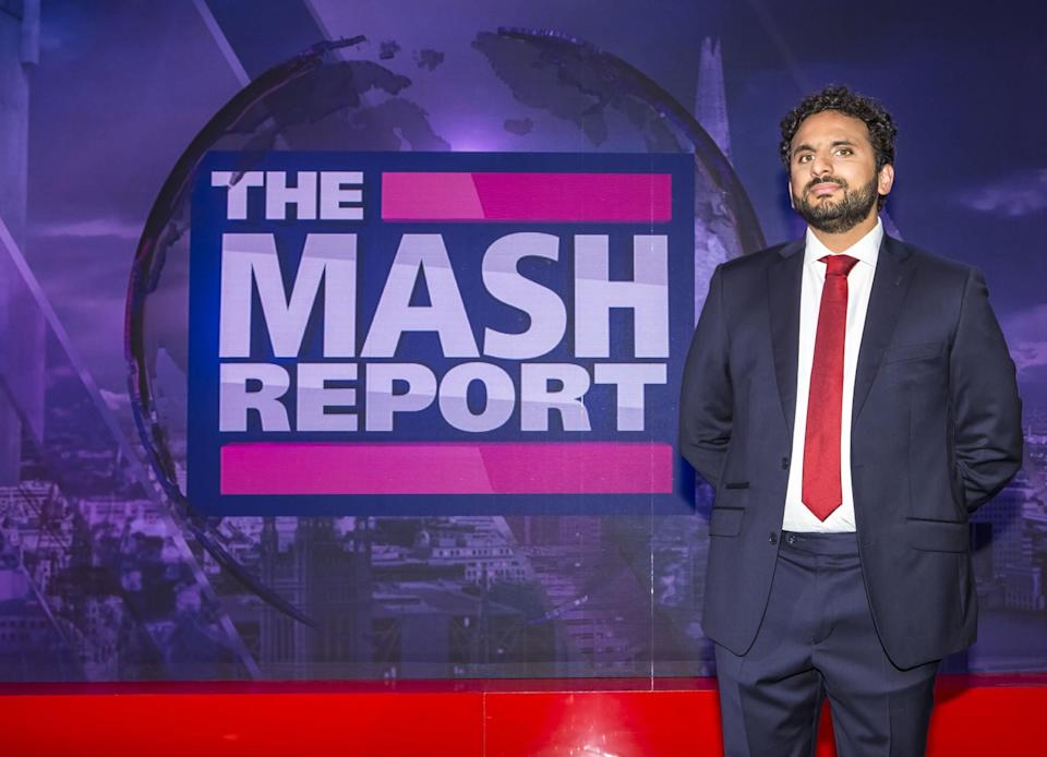 Nish Kumar hosted all four series of The Mash Report between 2017 and 2020 (Photo: BBC)