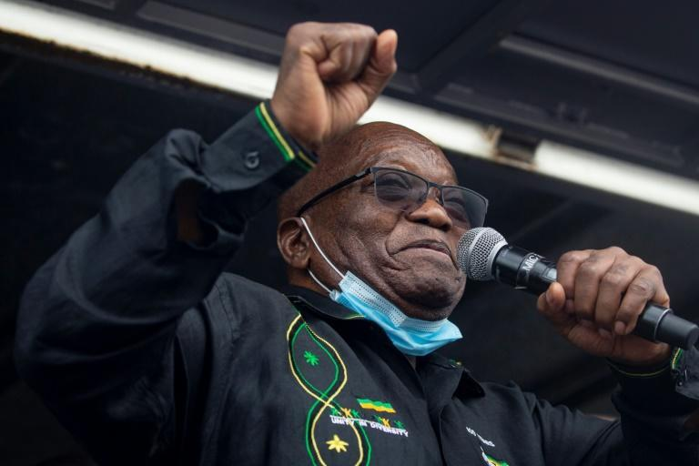 Zuma lashed the jail sentence yesterday as he addressed supporters who are camped outside his home