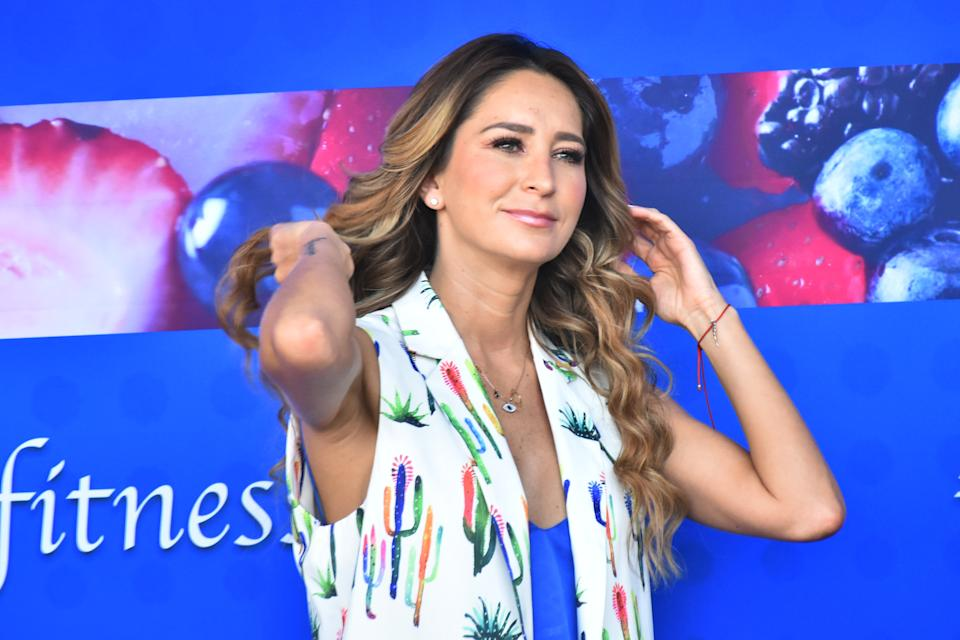 Geraldine Bazan  speaks during  the release of 'ProBugs' by Lifeway Foods at Terraza Timberland on May 21, 2019 in Mexico City, Mexico (Photo by Carlos Tischler/NurPhoto via Getty Images)