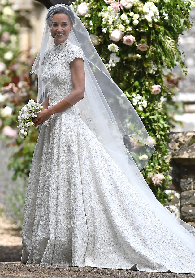 Pippa got married in a $70,000 Giles Deacon dress. Photo: Getty