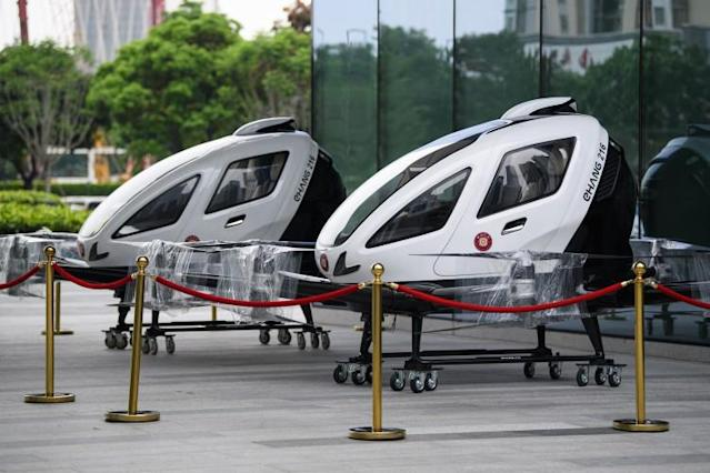 The drone was shown off in Guangzhou (Getty)