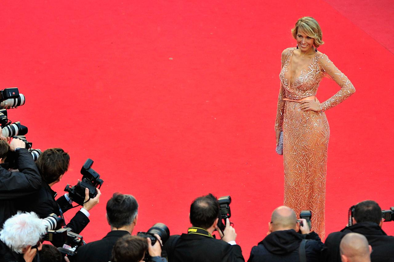 CANNES, FRANCE - MAY 22:  Petra Nemcova attends the 'All Is Lost' Premiere during the 66th Annual Cannes Film Festival at Palais des Festivals on May 22, 2013 in Cannes, France.  (Photo by Gareth Cattermole/Getty Images)