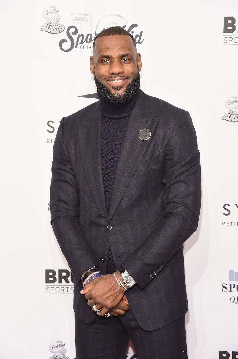 NEW YORK, NY - DECEMBER 12: Event honoree LeBron James attends the 2016 Sports Illustrated Sportsperson of the Year at Barclays Center of Brooklyn on December 12, 2016 in the Brooklyn borough of New York City. (Photo by Gary Gershoff/WireImage)