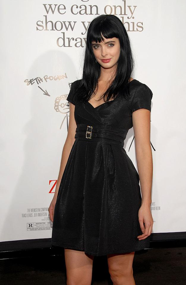 "<a href=""http://movies.yahoo.com/movie/contributor/1808532777"">Krysten Ritter</a> at the Los Angeles premiere of <a href=""http://movies.yahoo.com/movie/1809958867/info"">Zack and Miri Make a Porno</a> - 10/20/2008"