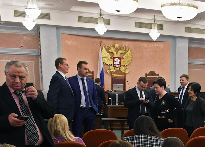 The Russian branch of Jehovah's Witnesses had appealed a ban on their religion, which the justice ministry had labeled an extremist organization in this April 2017 hearing, but the Russian Supreme Court upheld the ban
