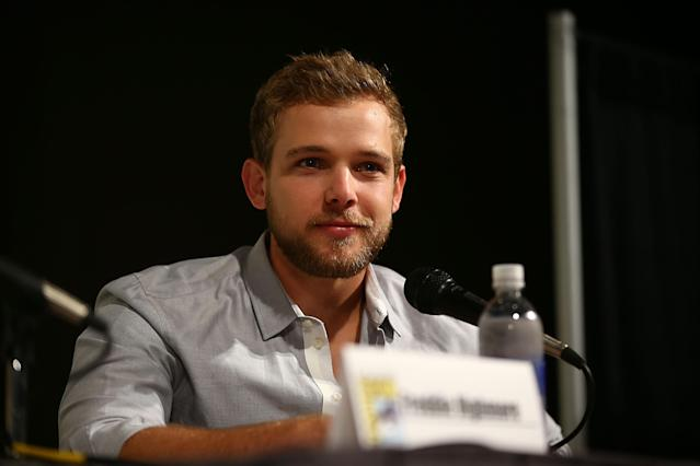 "Max Thieriot attends the ""Bates Motel"" panel at Comic-Con International 2013 - Day 3 on July 20, 2013 in San Diego, California."