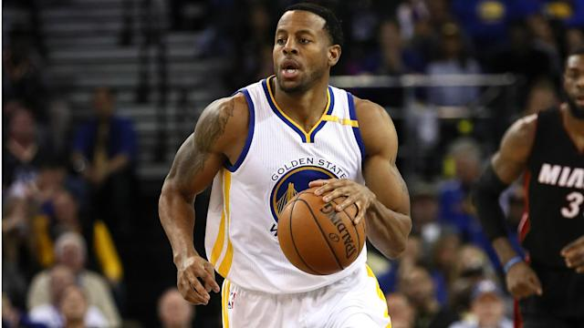 Andre Iguodala missed Game 4 and 5 to a left leg contusion, but is questionable for Game 6 on Saturday.