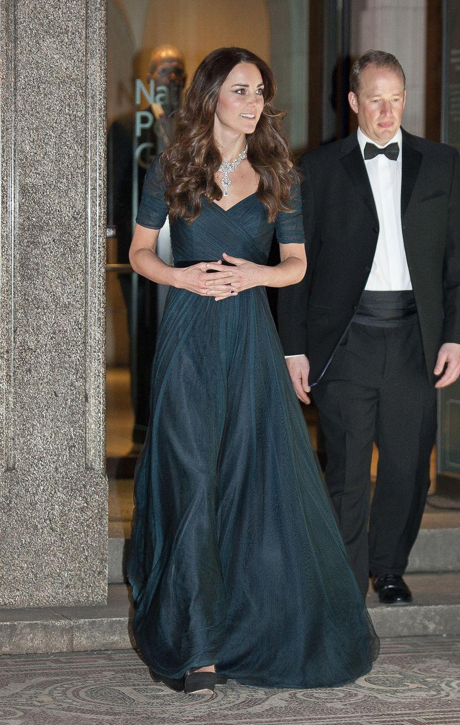 <p>Here's Kate wearing the gown for the National Portrait Gallery's Portrait Gala in London.</p>