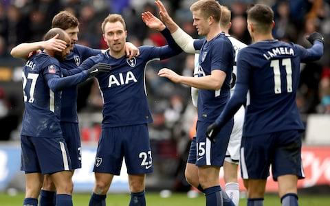 Tottenham booked their place in the hat with a comfortable win over Swansea - Credit: PA