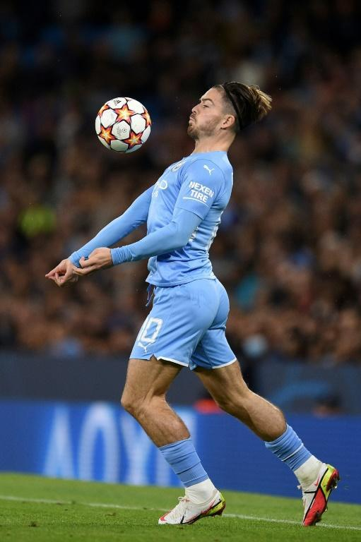 Jack Grealish scored a fine goal on his Champions League bow as Manchester City beat RB Leipzig 6-3 (AFP/Oli SCARFF)