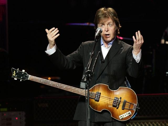 Sir Paul McCartney performs at a Teenage Cancer Trust gig